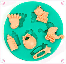 New Popular Baby Products Shape Cake Decoration Fondant Chocolate Silicone Molds