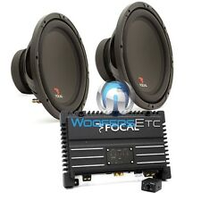 "pkg FOCAL SOLID1 BLACK MONOBLOCK AMPLIFIER + (2) SUB P30 12"" SUBWOOFERS SPEAKERS"