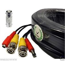 *Black 100ft Power & Video Cable for Night Owl HD Security CCTV Systems Kit