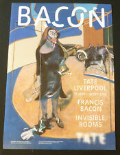 Francis Bacon - Invisible rooms    2016 ART EXHIBITION POSTER