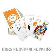 UST SURVIVAL TIPS PLAYING CARDS - Camping Bushcraft Hiking Outdoor Poker Gift