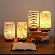 NEW 1pc Wooden Base Table Lights Study Room Bedside lamp Decor table lamp 3790U