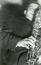"""Jackie McLEAN au CHAT QUI PÊCHE à PARIS 1961"" Photo originale argentique"