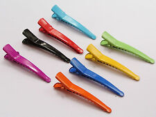 50 Mixed Color Prong Alligator Hair Clips 45mm with Teeth Bows