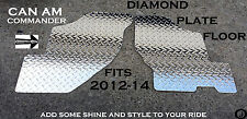 CAN AM COMMANDER CUSTOM CUT DIAMOND PLATE FLOOR BOARDS 2012-14