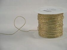 Gold Foil-Covered Glitter 1/20th Inch Diameter Florists Craft Wire 110yd Roll