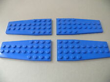 Lego 4 ailerons bleus set 7186 6499 3451 7186 / 4 blue plate wedge