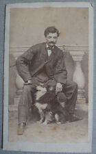 Photo Albuminé Chien Dog Carte de Visite Cdv Vers 1860