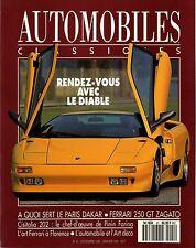 AUTOMOBILES CLASSIQUES n°41 12/1990 LAMBORGHINI DIABLO FERRARI 250 GT ZAGATO