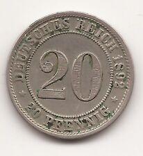 Deutsches Reich Kaiserreich 20 Pfennig 1892 D, MÜNCHEN, RAR!!!