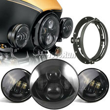 """7"""" LED Daymaker Headlight Passing Lights Mounting Ring For Harley Electra Glide"""