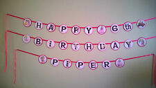 PRINCESS PEACH from SUPER MARIO BROTHERS- Birthday banner personalized MEDIUM