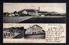 109419 AK Nieder Rengersdorf bei Glatz Bahnhof Gasthof zur Fabrik Max Zonzalla