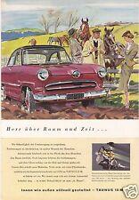 Zeitschriftenwerbung und Test, Ford Taunus 15M / 12 M, fünf Blatt,  um 1953