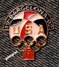 1992 Barcelona Olympic Pin Badge~McDonalds~Summer Games~vintage