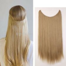 """Straight Headband Wire Hair Extensions Secret Invisible One Piece Ash Blonde 20"""""""