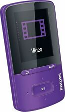 "Philips 8GB GoGear Vibe MP3 Player con video 1.8"" - púrpura + Garantía de 90 días"