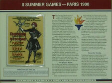 1900 PARIS SUMMER OLYMPIC GAMES PATCH WILLABEE & WARD USA ON CARD SEALED
