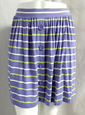 """""""CASLON"""" PERIWINKLE BLUE STRIPED KNIT CASUAL CAREER MINI SKIRT SIZE: XLP NWT"""