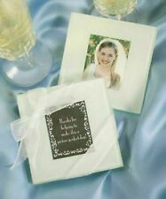 100 Glass Photo Coaster Wedding Favors - 100 sets of 2