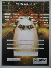 11/1991 PUB ALITALIA TECHNICAL OPERATIONS MAINTENANCE BOEING 747 AIRLINER AD