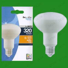 2x 8W (=60W) R80 ahorro de energía LED Reflector Foco Bombilla ES E27 Lámpara