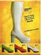 Publicité Advertising 1972 Les Chaussures Bottes Bata