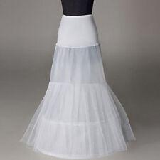 White Mermaid  Gowns 2 Hoop Long Bridal Wedding dress Petticoat Slips underskirt