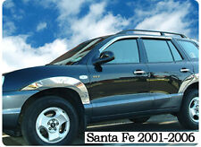 Chrome Fender Garnish Molding Trim Wheel Kit For 2001 - 2006Hyundai Santa Fe