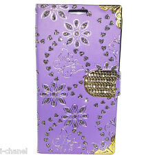 Bling Glitter Designer Diamond Book Flip Wallet Case Cover For Various Models