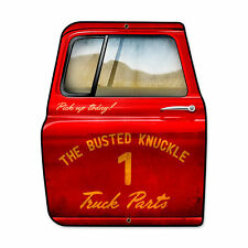 Busted Knuckle Garage Pick Up Truck Parts Door Retro Sign Blechschild Schild