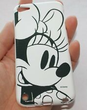 iPod Touch 5th 6th Gen -TPU RUBBER SILICONE CASE COVER DISNEY BLACK WHITE MINNIE