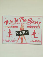 Shuby, exhibition announcement card, 2017
