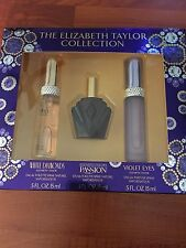 The Elizabeth Taylor Collection WHITE DIAMONDS- PASSION - VIOLET EYES Boxed Set