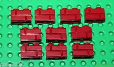 Lego Dark Red Brick 1x2 Masonry 10 pieces (98283) NEW!!!