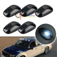 5x White Bulb-in Cab Roof Marker Lights For Car Truck SUV 4x4, Smoked Lens Lamps
