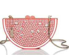 "Kate Spade ""Flights Of Fancy"" Bejeweled Grapefruit Slice Clutch Shoulder Bag NWT"