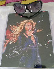 2006 BEYONCE SIGNED PICTURE & TWICE SIGNED AWESOME SUNGLASSES AUTOGRAPHED REAL