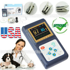 US Stock Color Veterinary Pulse Oximeter VET SPO2 Tongue Sensor+Software,New
