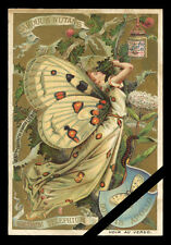 French Victorian Trade Card Art Nouveau Est. Early 1900's butterfly Liebig