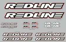 Redline BMX Bicycle Complete Frame/Fork Decal Set- White