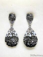 STATEMENT DIAMONTE CRYSTAL BLING SEXY DROPLET BLACK EARRINGS