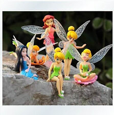 6pcs Lot Anime Cartoon Tinkerbell Fairy PVC Action Figure Toys Girls Dolls Gift