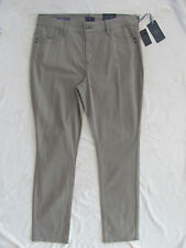 NYDJ Not Your Daughter's Jeans Samantha Slim Strght-Vintage Taupe-Size 14- NWT