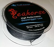 Downrigger Braided Line Black 200 lb 300ft PENN CANNON SEAHORSE by TROLL-MASTER