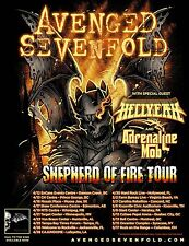 "AVENGED SEVENFOLD ""SHEPHERD OF FIRE TOUR"" 2013 NORTH AMERICAN CONCERT POSTER"