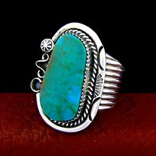 Garrisson Boyd Navajo Sterling Silver Men's Turquoise Ring Size 13,5 --- R41 E T