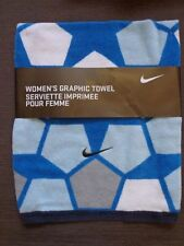 Nike Women's Graphic Towel - Multi Blues/Grey - 100% Cotton New