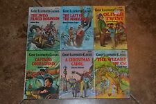 Lot of 6 GREAT ILLUSTRATED CLASSICS Hardcover Series Set of Books for Kids/Boys