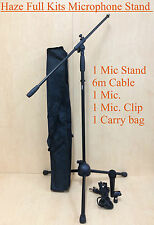 Adjustable Telescopic Boom Microphone Stand w/6m Cabel,1 Mic,1 Clip,1 Carry bag